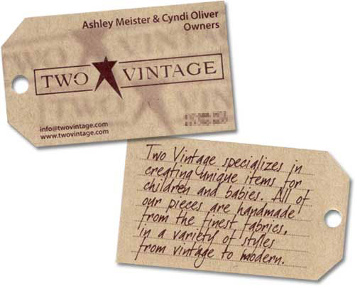 Yellowhat studios two vintage business card reheart Gallery